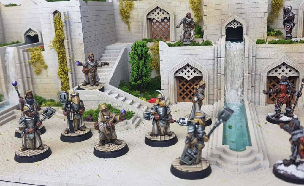 An Anram warband faces of against some invading warriors from Tarusa
