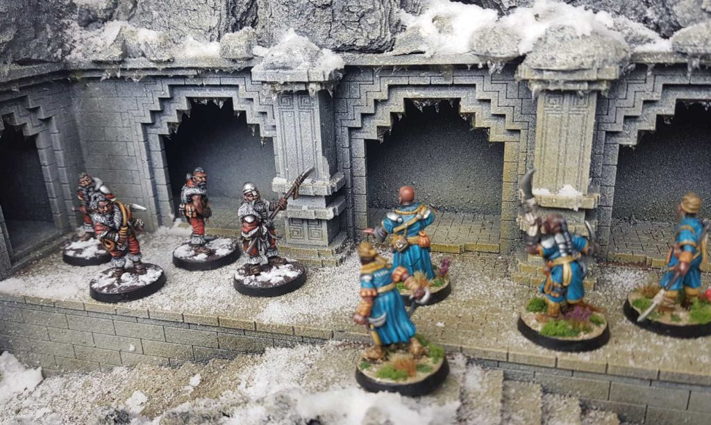 Tarusa warriors hold off an attacking Lahari force